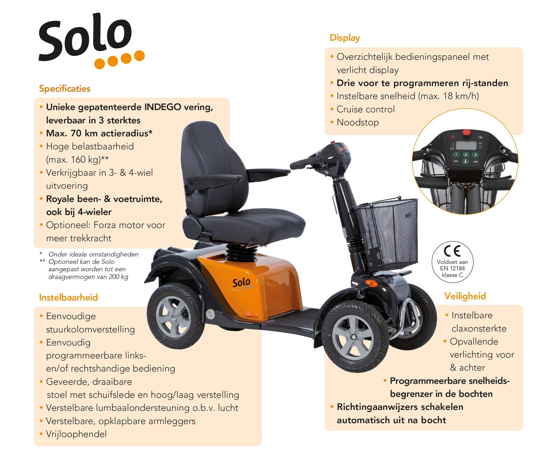 Eigenschappen Solo 4 scootmobiel