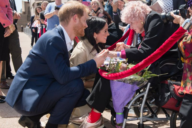 Daphne Dunne sitting in Ergo Lite Meets Prince Harry